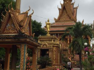 Khmer pagoda - Mekong delta