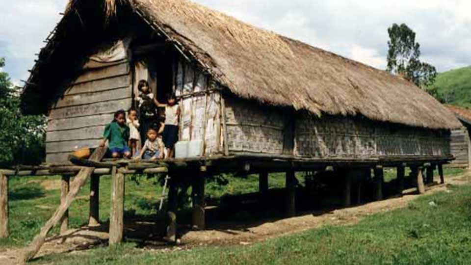 Ede long house in central highland Vietnam