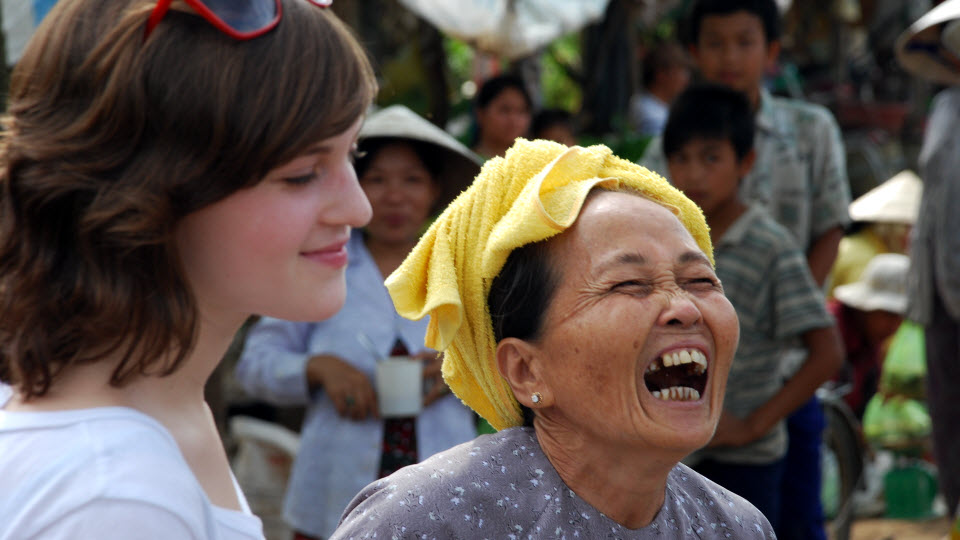 Mekong delta tours - nice chat with locals