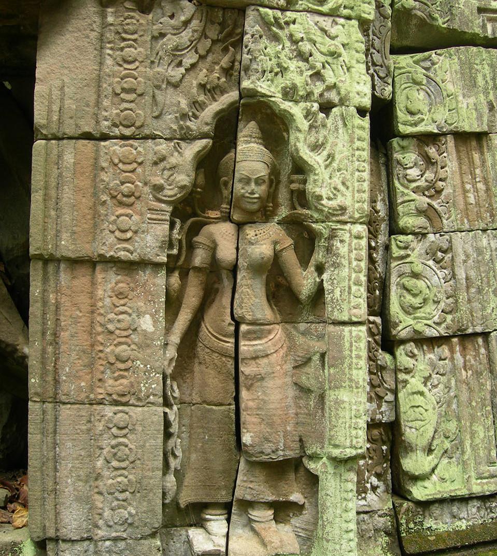 A hidden corner of Ta Prohm temple