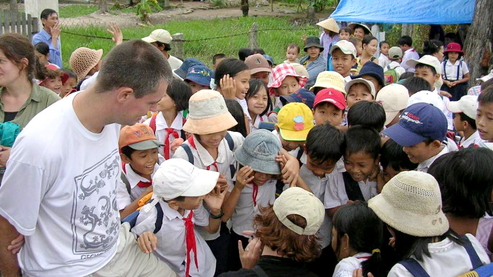 Mekong delta tours - fun with kids