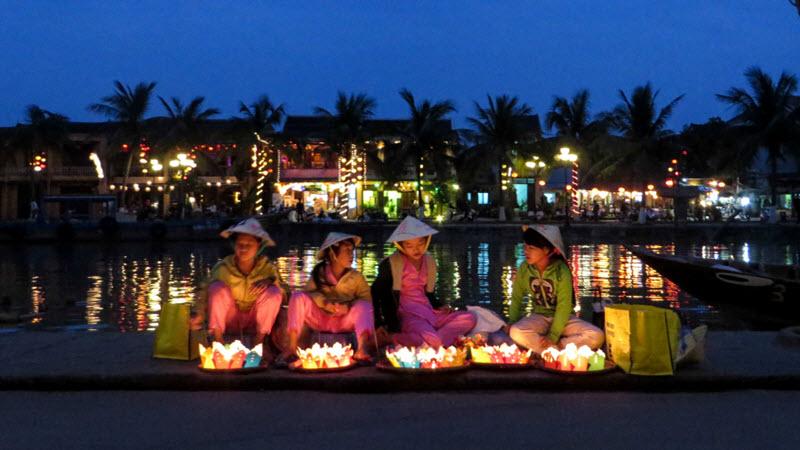 Full moon lantern on hoi an river - Hoi an tour