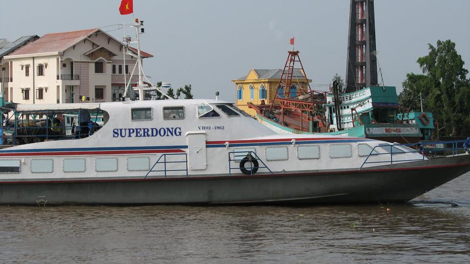 Speed boat from RachGia to Vietnam beaches PhuQuoc island