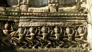 Dancing Apsaras - the Hall of Dancers - Preah Khan temple - Angkor Cambodia