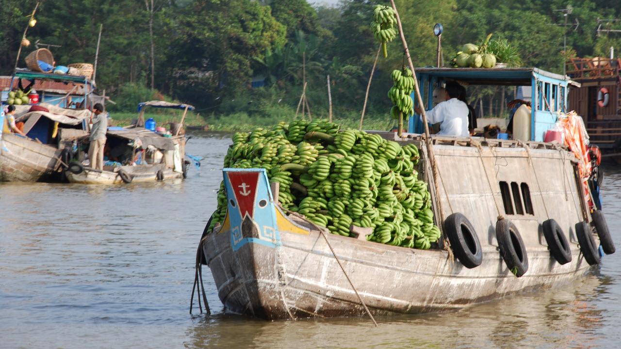 Mekong delta tour 3 days - ChauDoc river market