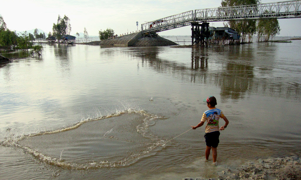 TraSu canal in flood season - mekong delta vietnam