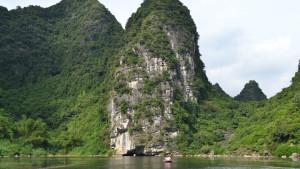 Limestone Karst valley - Tam Coc Vietnam