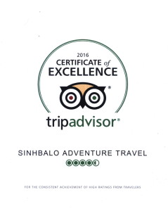 Certificate of Excellence 2016 for Sinhbalo
