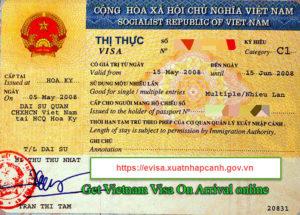 E Visa to Vietnam