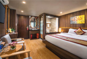 CatBa island Halong bay LanHa bay with UniCharm cruise | Uni Balcony Double cabin