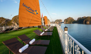 CatBa island Halong bay LanHa bay with UniCharm cruise
