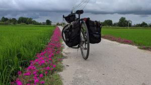 Cycling mekong delta in LongAn province