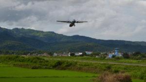 ATR72 landing in DienBienPhu